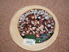 Wooden Round Spanish Serving Plate Platter for Pulpo Meat Cheese Tapas