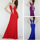 Women Red Mermaid Bridesmaid Formal Prom Gowns Ball Cocktail Evening Party Dress