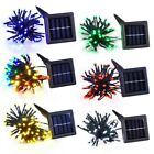Waterproof 60 LED Solar Fairy String Light Xmas Party Gardn Lawn Decoration Lamp