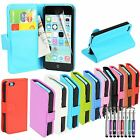 Madcase Elegant Smooth PU Leather Wallet Flip Case Cover for Apple iPhone 5c