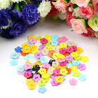 100/200pcs 12mm New Plum Flower Resin Buttons Mixed Color Sewing Accessories Hot