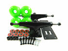Turbo 5.25 Blk Skateboard Trucks + 52mm Color Wheels + ABEC 7 Bearings Riser Pad