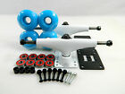 Turbo 5.25 Wht Skateboard Trucks + 52mm Color Wheels + ABEC 7 Bearings Riser Pad