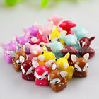 New 3D DIY Crafts Decoration Cute Sika Deer Ornaments FlatBack Resin Cabochon