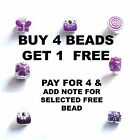 Purple Enamel Butterfly Charms Beads For Silver Charm bracelets BUY 4 GET 1 FREE