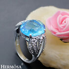 75% OFF HOT 925 Sterling Silver DAZZLING London Blue Topaz Sunny Ring Size 8