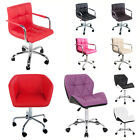 Breakfast Dining Bar Stool PU Leather Kitchen Chrome Chair Swivel home office PC