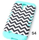 For Samsung Galaxy S4 - HARD & SOFT RUBBER HYBRID HIGH IMPACT SKIN CASE COVER