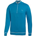 Puma Golf AW13 Mens 1/4 Zip Solid Knitted Cotton Sweater Golf Jumper Pullover