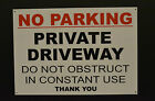 No Parking Private Driveway Do Not Obstruct Sign Waterproof 3mm Metal Dibond