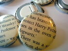 Upcycled Harry Potter badge pin pinback handmade Hogwarts Hermione Ron Voldemort