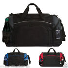 Black SPORTS HOLDALL with Coloured Trim - Gym Duffel Luggage Bag Travel Football