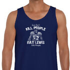 Guns Don't Kill People Ray Lewis Does T-shirt jersey NFL Ravens Men's Tank Top