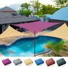 Sun Shade Sail UV Top Outdoor Canopy Patio Lawn 11.5' 16.5' Triangle 18' Square