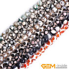 """8mm Round Football Faceted Agate Jewelry Making loose gemstone beads strand 15"""""""