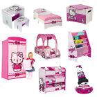 Choose from: Hello Kitty Bedroom Furniture girls pink storage toy box, bookcase