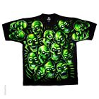 New GREEN SKULL PILE T Shirt
