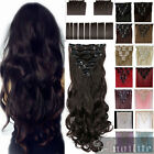 Elegant 8PCS 18Clips Full Head Clip in Synthetic Hair Extensions Extension ssn
