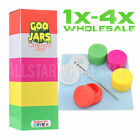 Goo Jars Pack of  5 Colored Silicone Containers Concentrates w/ Dabber Tool