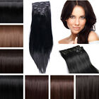 cheap price clip in hair extensions Real Synthetic Full head 8 Piece DIY hair ss