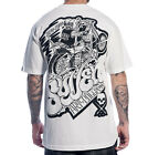 AUTHENTIC SULLEN CLOTHING CHOPPED BIKER SKULL TATTOO SCENE T SHIRT WHITE