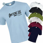 18th 21st 30th 40th 50th 60th or CUSTOM YEAR Birthday AWESOME T Shirt Mens Gift