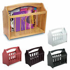 NEW STANDING WOODEN MAGAZINE RACK NEWSPAPER MAIL HOLDER STAND SHELF STORAGE