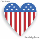 Patriotic STENCIL Americana Heart Flag Stars Stripes Country Home Decor Art Sign