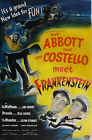 ABBOT AND COSTELLO MEET FRANKENSTEIN . Vintage Movie Poster A1A2A3A4Sizes