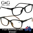 G&G Mens Ladies Wayfarer Reading Glasses Frame Spring Black Tortoise +1.0 ~ 4.0