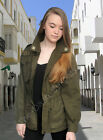 Vintage Italian Army Field Combat Jacket Green Military Surplus Shirt Coat