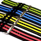 26mm Black Fabric Strap Red Blue Yellow Green Printing Men Women Watch Band New