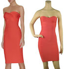Bandage Bodycon Dresses Evening Cocktail Party Prom Dress Orang 036# XS S M L