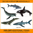 New BULLYLAND solid plastic toy animal figures sea creatures WHALES & SHARKS