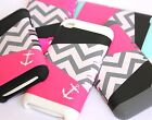 iPod Touch 4th Gen - HARD & SOFT RUBBER HYBRID HIGH IMPACT CASE CHEVRON / ANCHOR