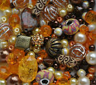 Bead Starter Mix Jewellery Making Beginner Mix Gold Yellow Brown Bronze