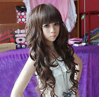 New Style Fashion Womens Lady Curly Long Wavy Hair Full Wigs Wig Cosplay Cosutme