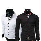 Polyester JS Mature Business formal Casual Mens Dress shirts Stylish Slim Fit