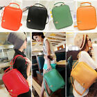 NEW Womens Casual Retro Preppy Style PU Leather Backpack Student School Handbag