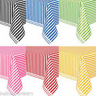 "54""x108"" STRIPES Striped Party Supplies Disposable Plastic Table Covers"