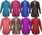 Ladies Plus Size Floral Lace Water fall Long Sleeve Cardigan 14-28
