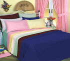 Love2Sleep PLAIN DYED 50:50 POLY COTTON FITTED SHEET - ALL UK STANDARD SIZES