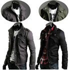 JS Relaxed Hoody Casual Mens Jackets Coat Outerwear Stylish Slim  Stand Collar