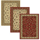 "Traditional Floral Area Rug 9x13 Border Vines Oriental Carpet Actual 9'2""x12'6"""