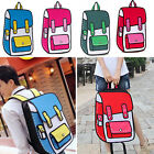 Fashion 3D Jump Style 2D Drawing From Cartoon Paper Bag Comic Backpack Bag HOT