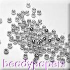 1000 - 3000 Tiny Round Crimp Beads Silver Colour 1.5 mm Nickel Free 4036