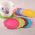 jelly silicone lace flower coaster mat pad cushion for beverage cup mug glass