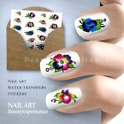 Beautiful Flowers Nail Art Nail Decals Water Transfer Stickers Decoration-125