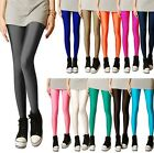 FD492 Sexy Women Shiny Bright Fluorescent Glow Stretch Tights Leggings Pants 1PC