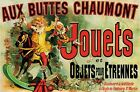 New Aux Buttes Chaumont Jouets Vintage Advertising Poster